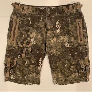 Da-Nang Asian Inspired Camo Cargo Shorts